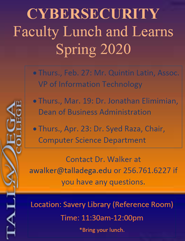 Cybersecurity-Faculty Lunch and Learns Series